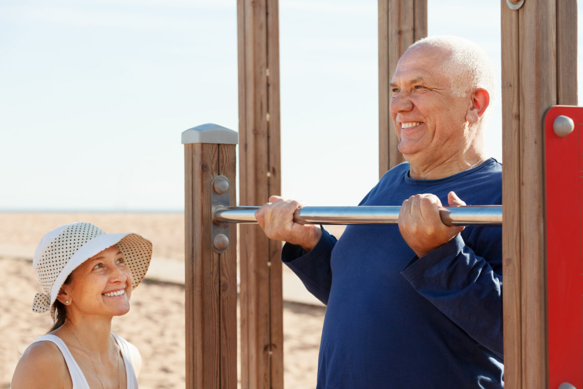 Retired couple active lifestyle